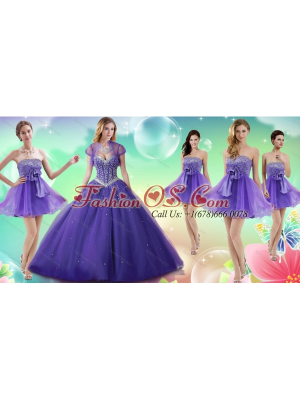 Gorgeous Beaded Really Puffy Quinceanera Dress and Romantic A Line Dama Dress