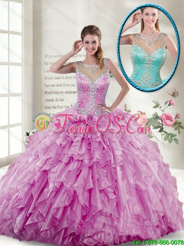 2016 Spring New Style Ball Gown Beaded Sweet 16 Gowns in Lilac