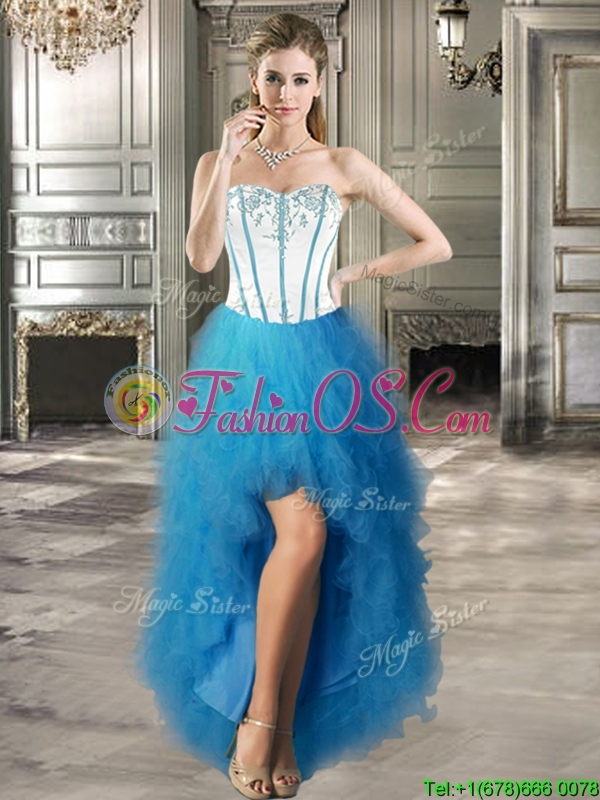New Style Big Puffy Detachable Quinceanera Dresses with Beading and Ruffles