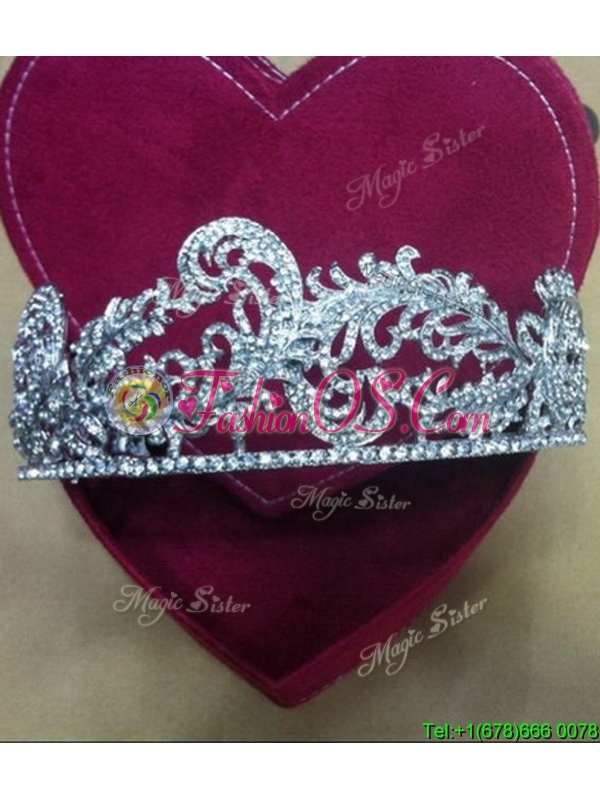 2017 Simple Tiaras with Beading for Women