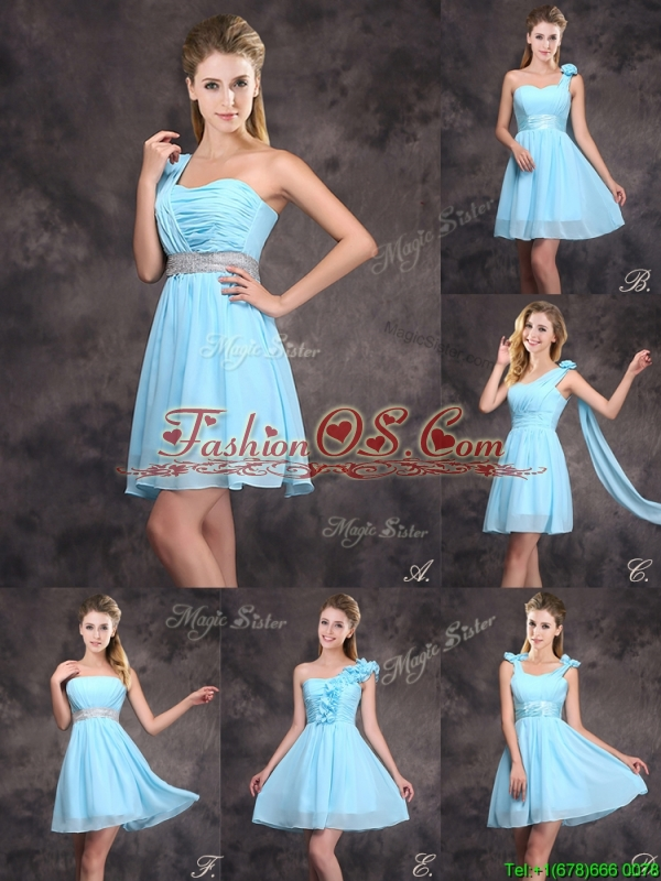 Cute Sequined Decorated Waist Short Prom Dress with Strapless