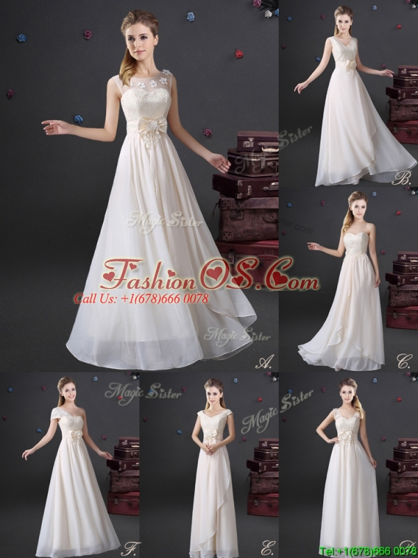 2017 Popular See Through Scoop Prom Dress with Appliques and Bowknot