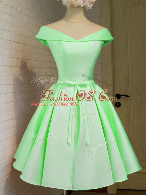 Sophisticated Knee Length A-line Cap Sleeves Quinceanera Court of Honor Dress Lace Up