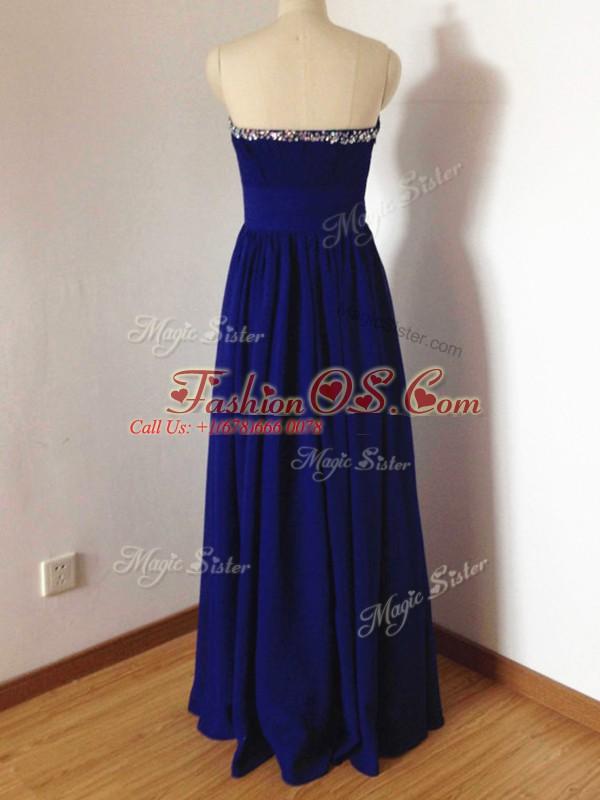 Sleeveless Beading Side Zipper Quinceanera Court Dresses