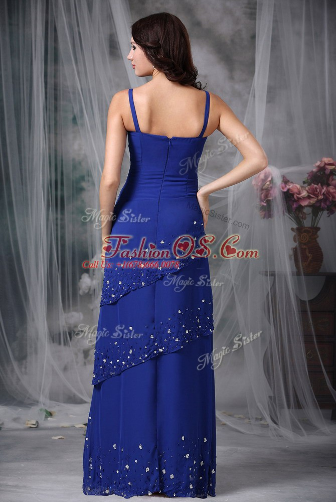 Sophisticated Sleeveless Zipper Floor Length Beading Mother Of The Bride Dress
