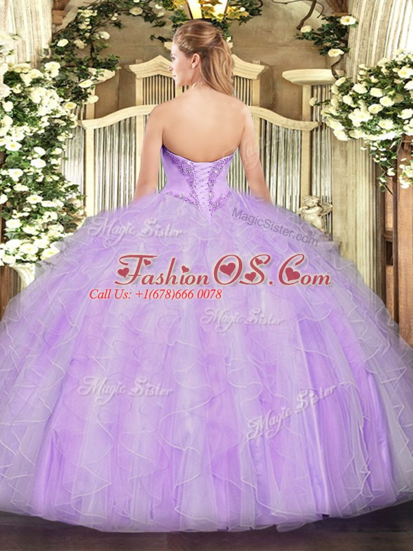 Great Yellow Green Sleeveless Organza Lace Up Sweet 16 Dresses for Military Ball and Sweet 16 and Quinceanera