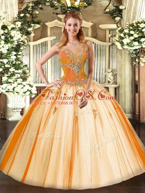Sleeveless Beading Lace Up Vestidos de Quinceanera