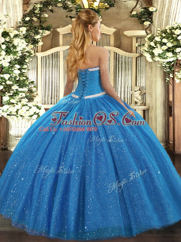 Fitting Floor Length Hot Pink Quinceanera Dress Tulle Sleeveless Appliques