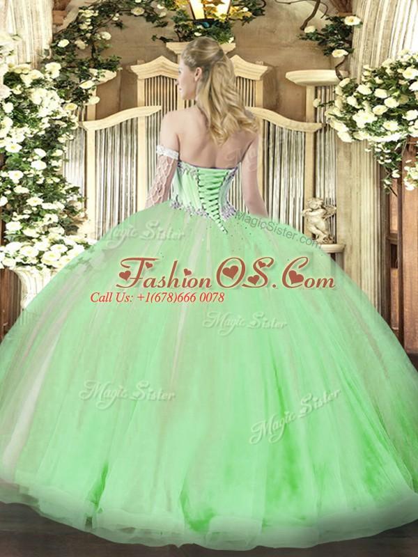 Free and Easy Yellow Sleeveless Beading and Ruffles Floor Length 15th Birthday Dress