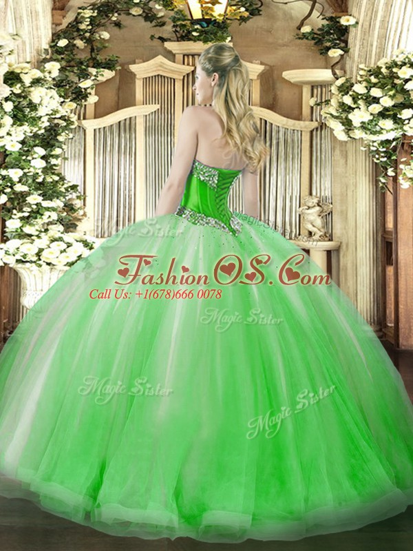 New Style Coral Red Lace Up Sweet 16 Quinceanera Dress Beading and Ruffles Sleeveless Floor Length