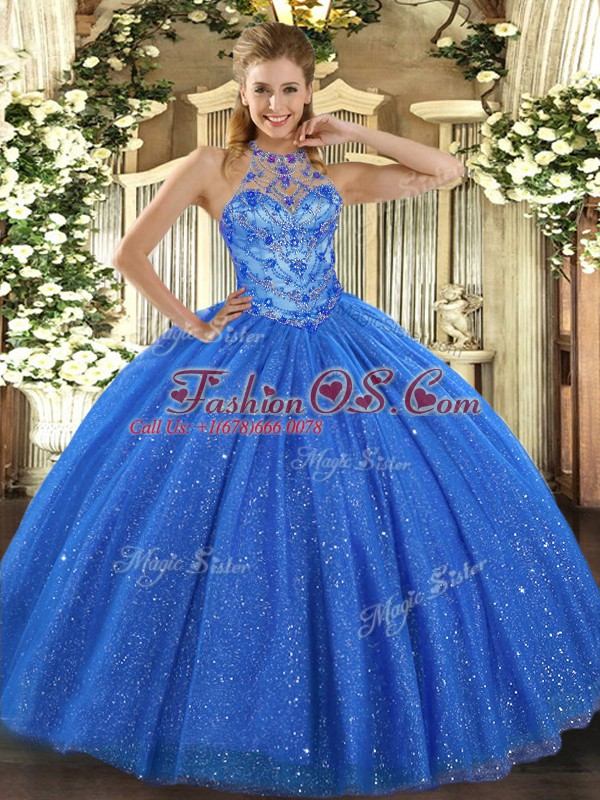 Super Sleeveless Lace Up Floor Length Beading and Embroidery Quinceanera Dresses