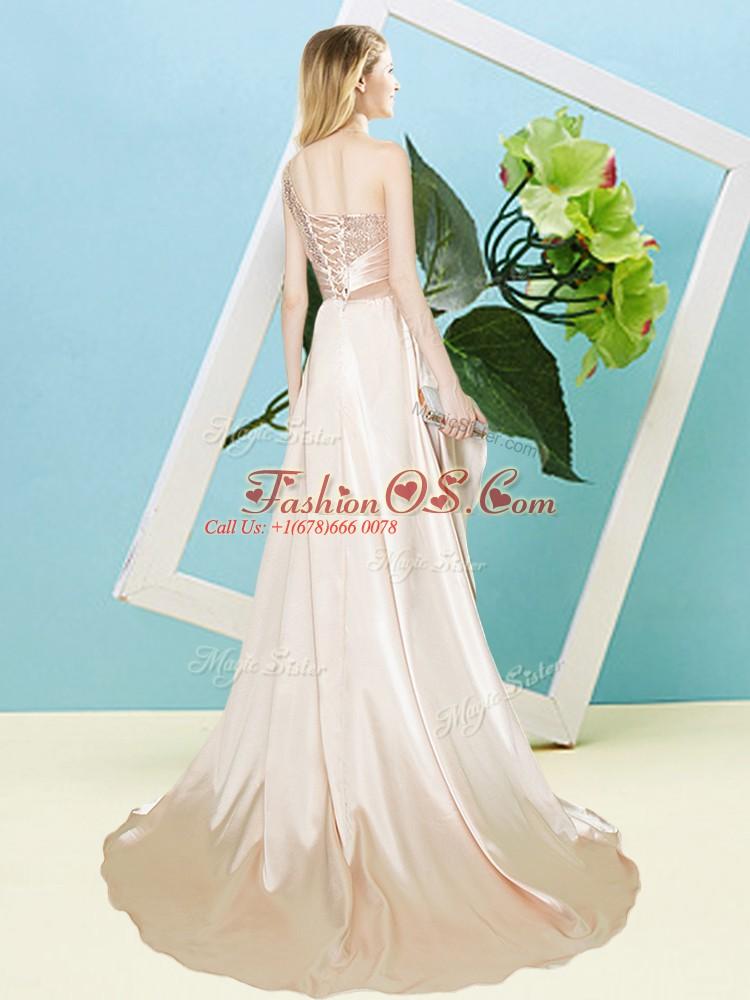 Super Apple Green Sleeveless Sequins High Low Prom Dress