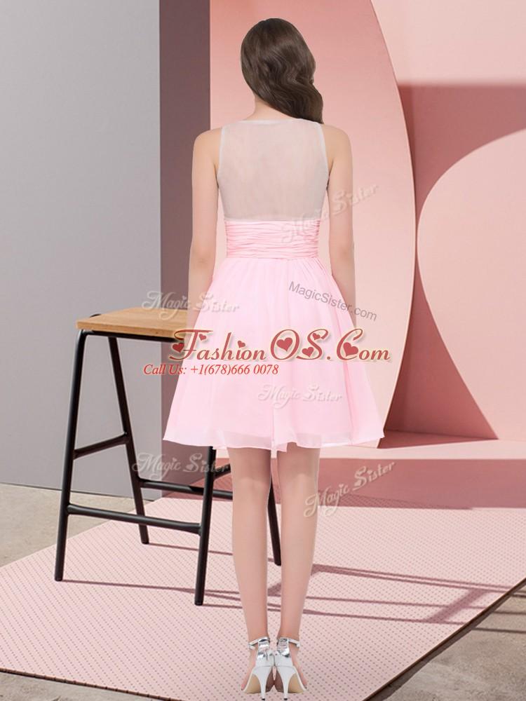 Classical Sleeveless Beading Side Zipper Vestidos de Damas