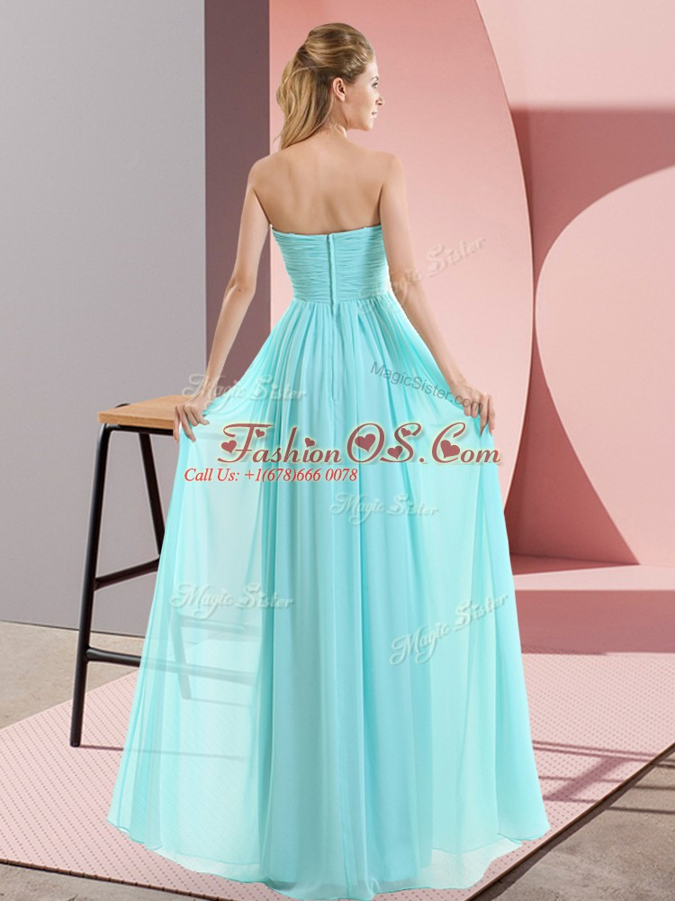 Adorable Sweetheart Sleeveless Chiffon Evening Dress Beading Zipper