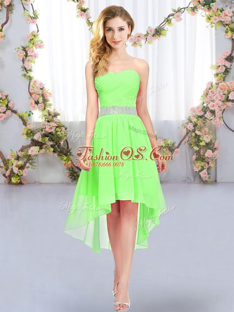 Sweetheart Lace Up Belt Damas Dress Sleeveless