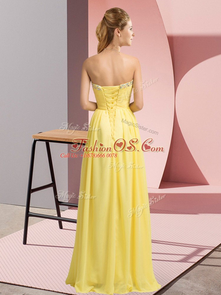 High Quality Apple Green Sweetheart Lace Up Beading Prom Party Dress Sleeveless