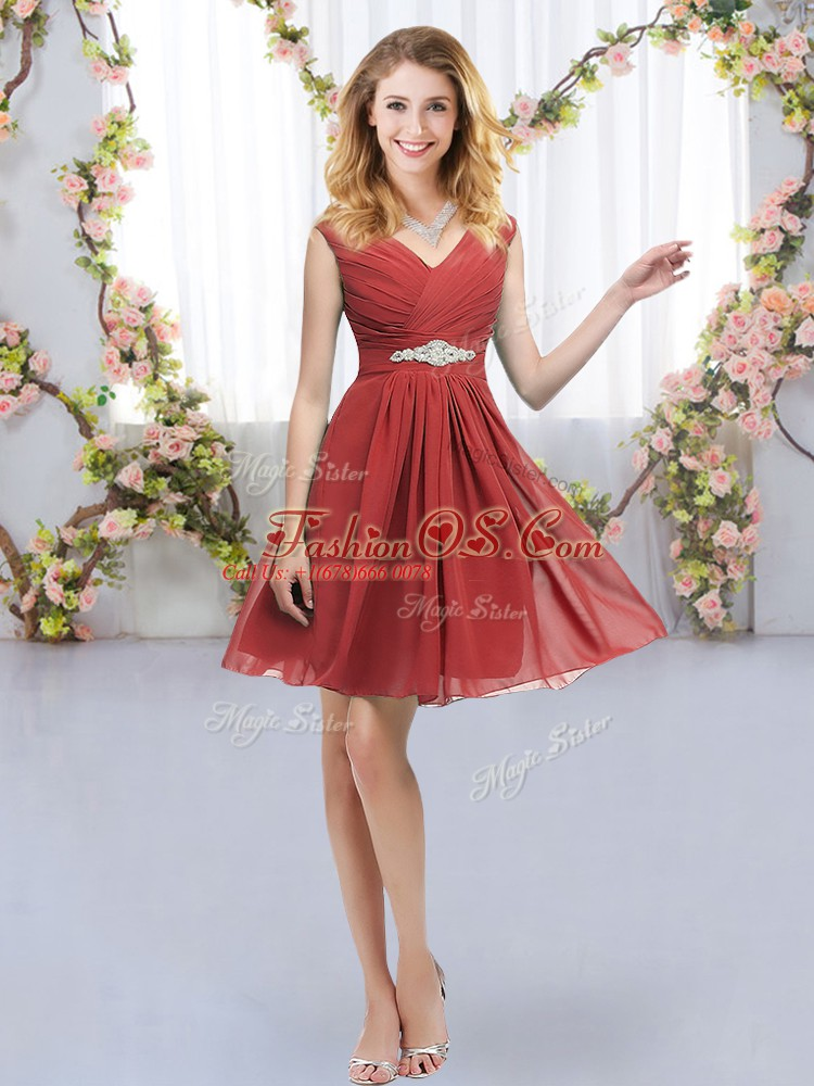 Cheap Sleeveless Belt Zipper Court Dresses for Sweet 16
