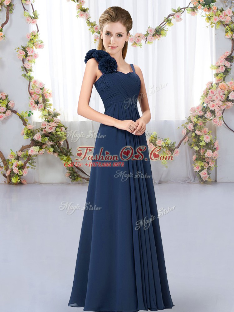 High End Sleeveless Hand Made Flower Lace Up Quinceanera Court Dresses