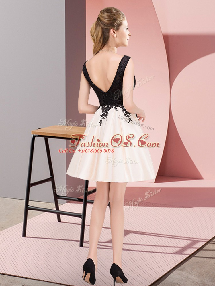 Captivating Sleeveless Zipper Mini Length Lace Vestidos de Damas