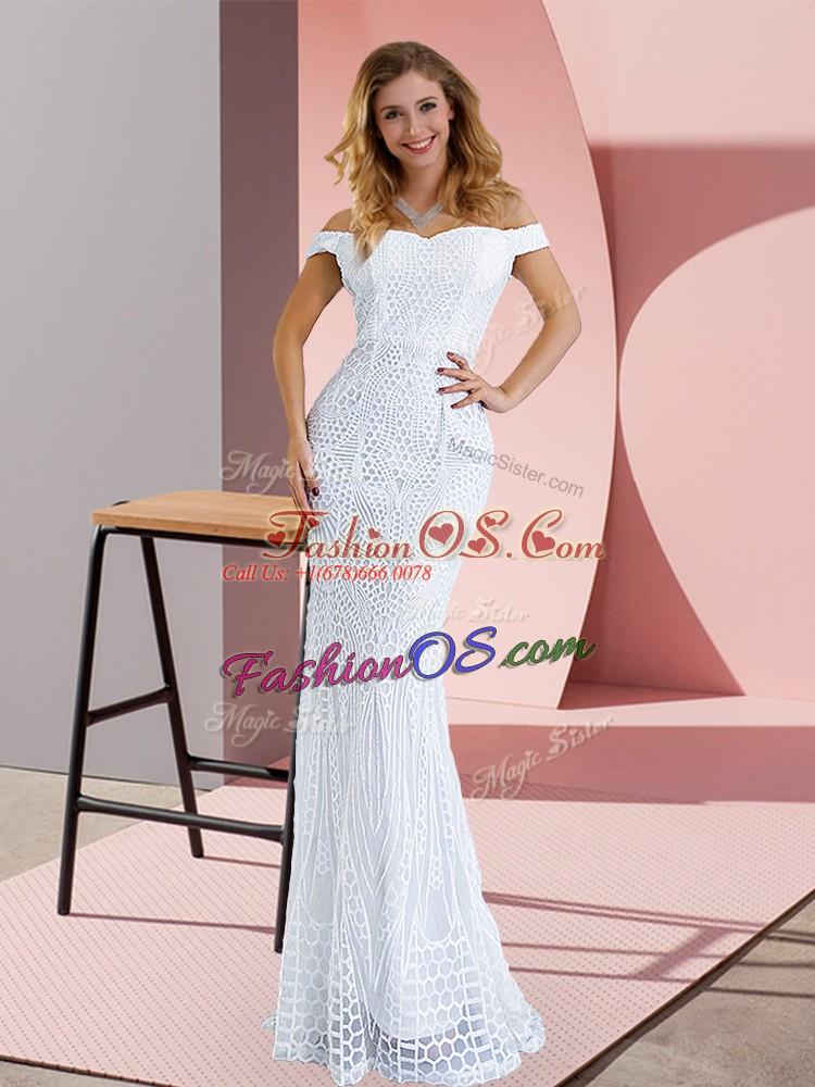 Sleeveless Sweep Train Zipper Ruching Prom Dress