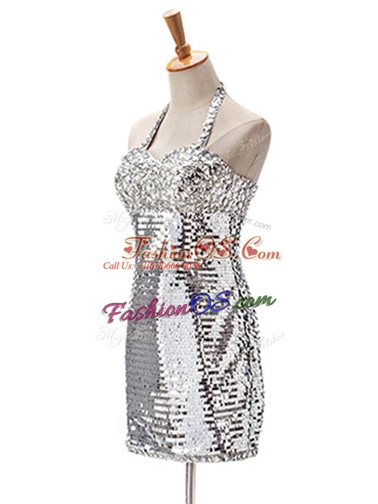 Sleeveless Ruching Zipper Prom Dresses