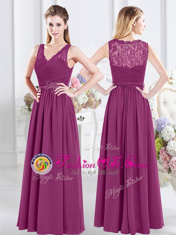 Top Selling Scoop Half Sleeves Lace and Ruching Zipper Vestidos de Damas
