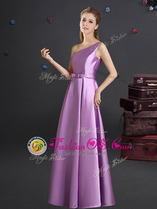 Luxurious Square Sleeveless Elastic Woven Satin Court Dresses for Sweet 16 Bowknot Zipper