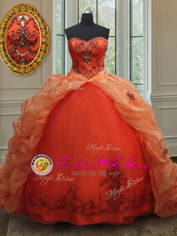 Black and Red Lace Up Strapless Lace Ball Gown Prom Dress Lace Sleeveless