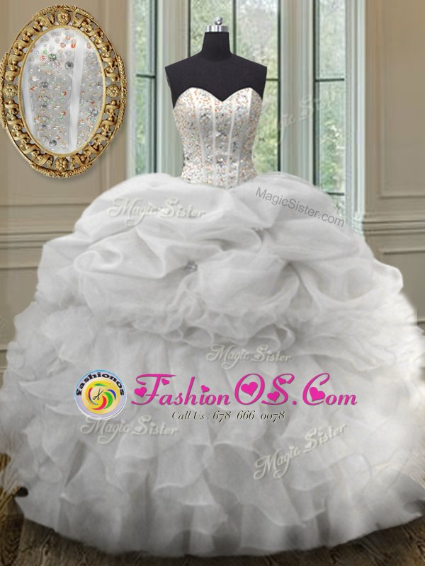 Floor Length Green 15 Quinceanera Dress Sweetheart Sleeveless Lace Up