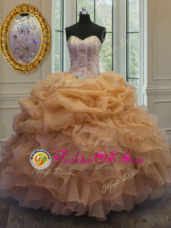 Dramatic Sleeveless Tulle Floor Length Lace Up Quinceanera Dresses in Purple for with Beading and Sequins