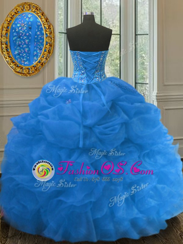 Custom Made Three Piece Tulle Sweetheart Sleeveless Lace Up Beading and Sequins Sweet 16 Dress in Eggplant Purple
