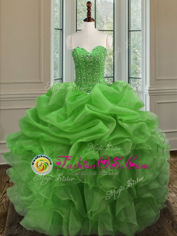 Fantastic Sweetheart Sleeveless Lace Up Quinceanera Gown Royal Blue Tulle