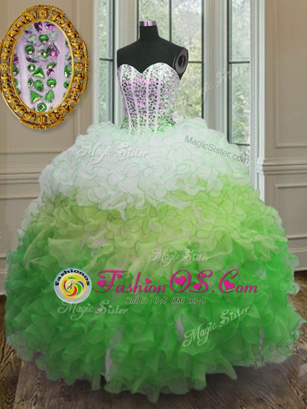 Apple Green Off The Shoulder Neckline Hand Made Flower Sweet 16 Quinceanera Dress Short Sleeves Lace Up