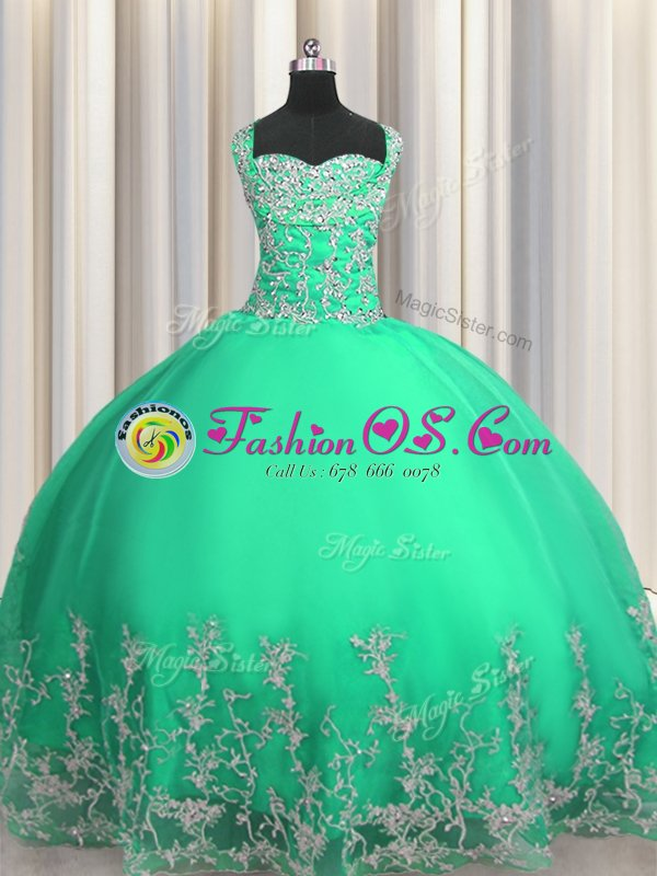 Sophisticated Sweetheart Sleeveless Organza Quinceanera Gown Beading and Ruffles Lace Up