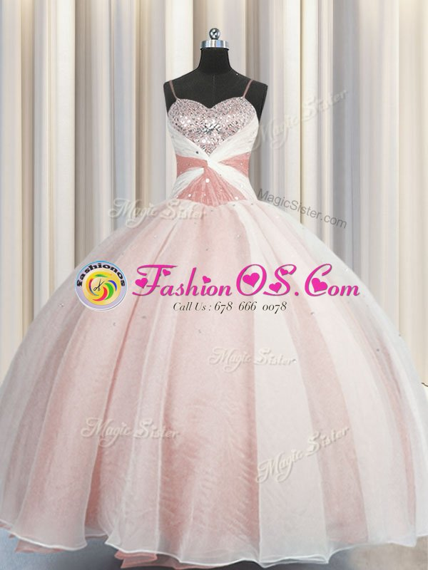 Best Visible Boning Organza and Sequined Sweetheart Sleeveless Lace Up Ruffles and Sequins Quinceanera Dresses in Olive Green