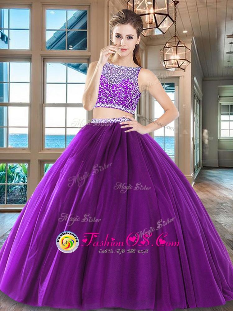 Spectacular Beading Sweet 16 Dress Wine Red Side Zipper Sleeveless Floor Length