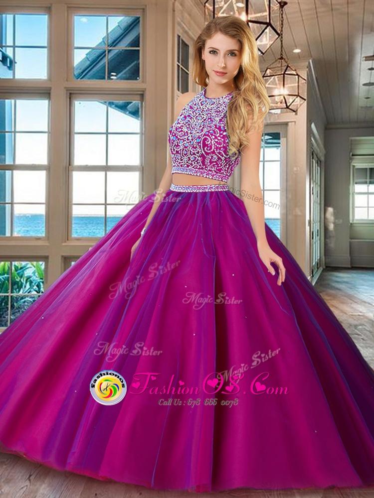 Floor Length Lavender Quinceanera Dress Straps Sleeveless Backless