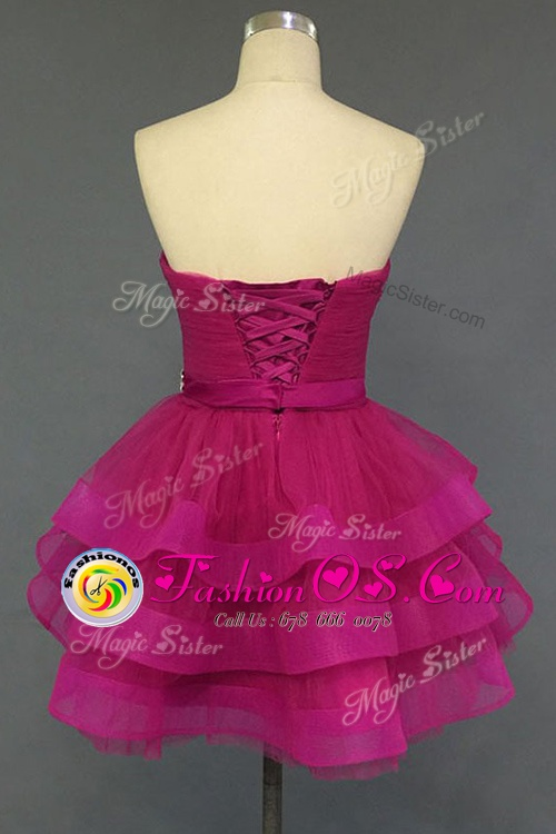 Fashion Sleeveless Lace Up Mini Length Beading Cocktail Dresses