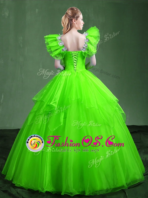 New Arrival Ball Gowns Sweet 16 Quinceanera Dress Sweetheart Organza Sleeveless Floor Length Lace Up